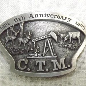 Canadian Toy Magazine 6th Anniversary Belt Buckle